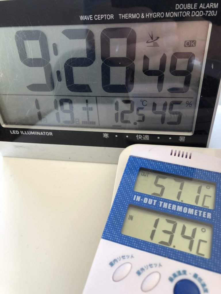 57度!ダニが死滅する温度に達していました!